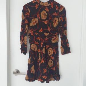 zara dressong sleeve dress Zara size M